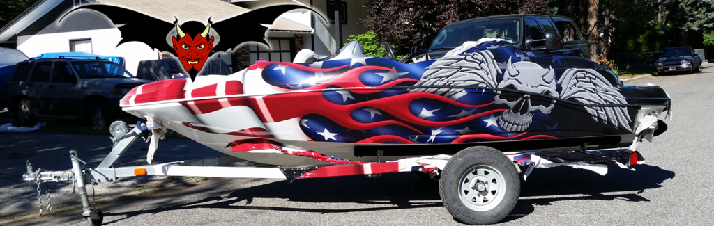American Flag Wrap Custom Boat Graphics Wrap Hot Rod Style - Boat decalsamerican flag boat decals usa flag boat graphics xtreme digital