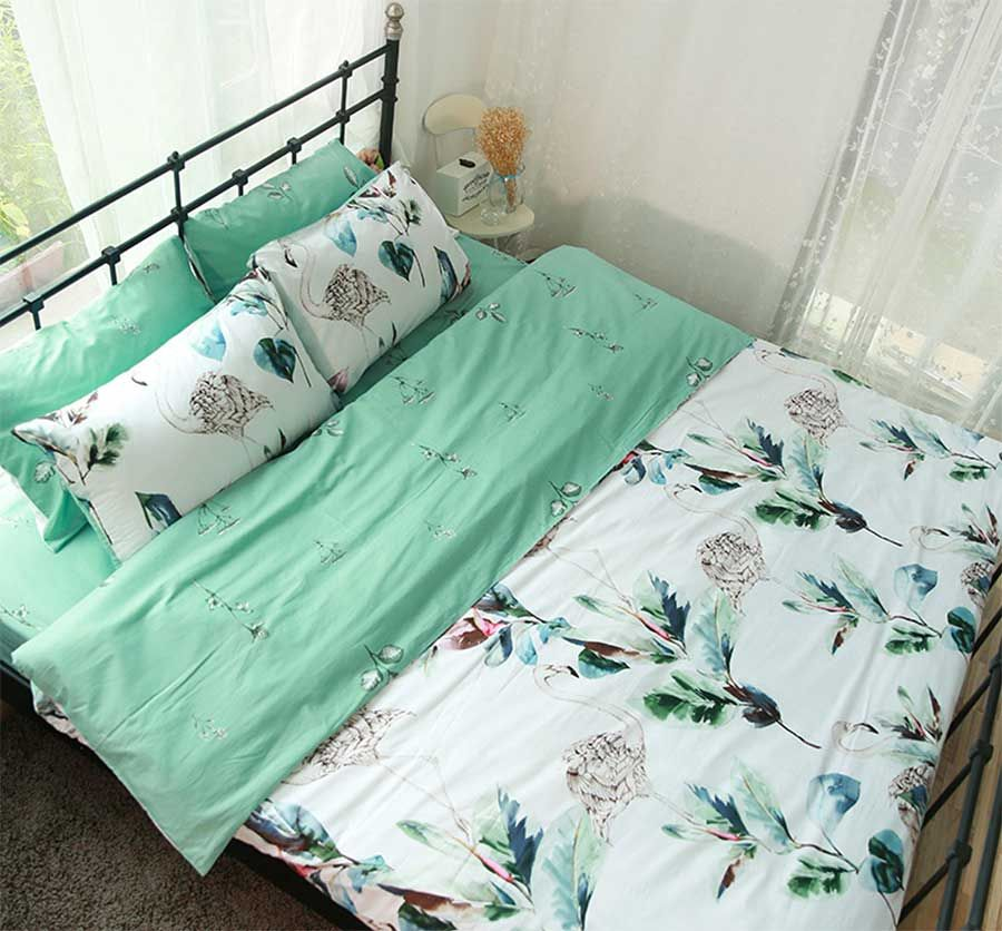American Country Plant Single Double Bedding Set Twin Full Queen