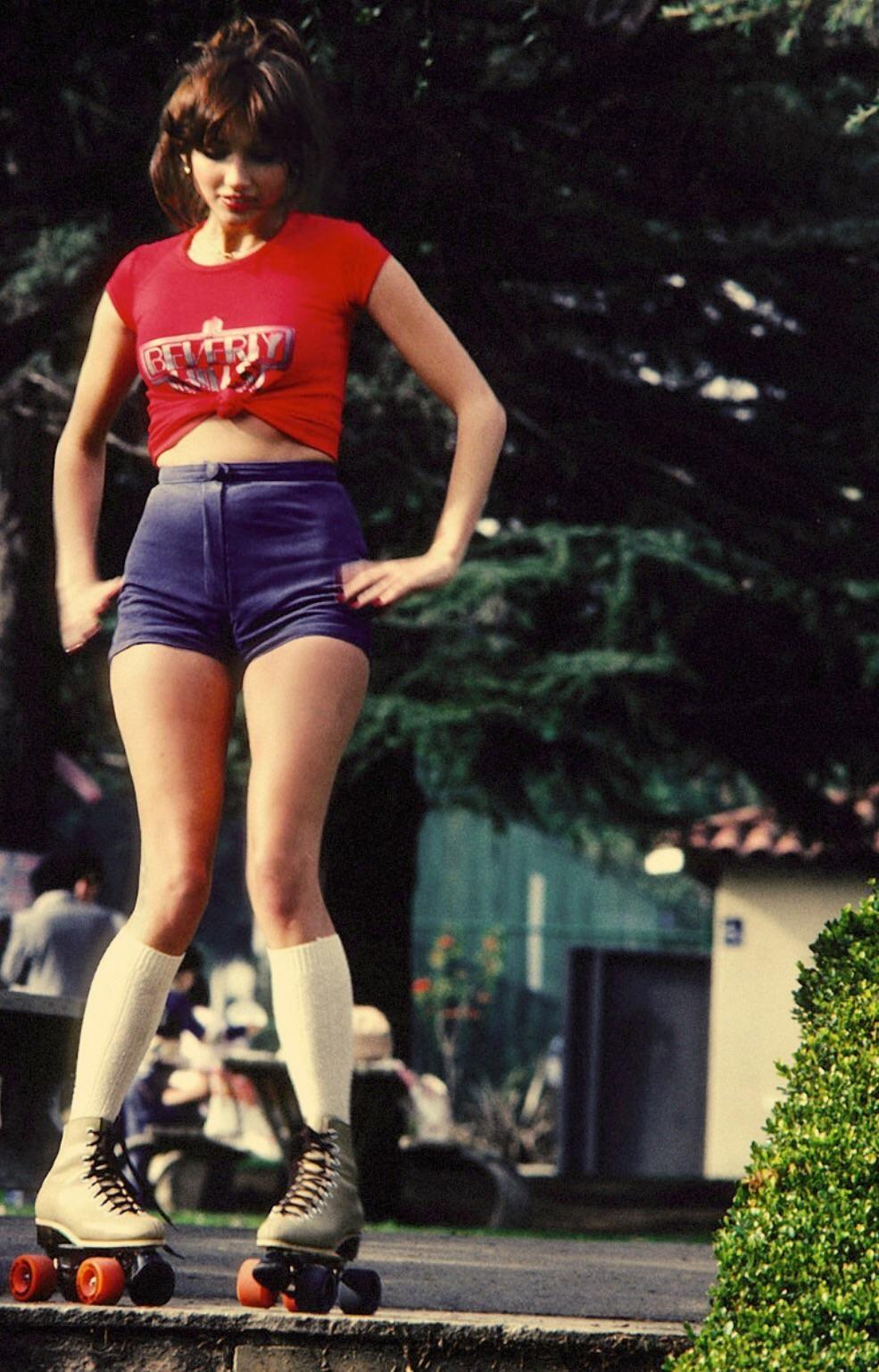 Girl on roller skates 1980 in 2019 Disco roller skating