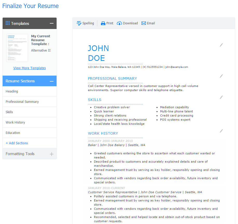 Quick Resume Maker Free Builder Examples Top Reviews Jobscan Blog
