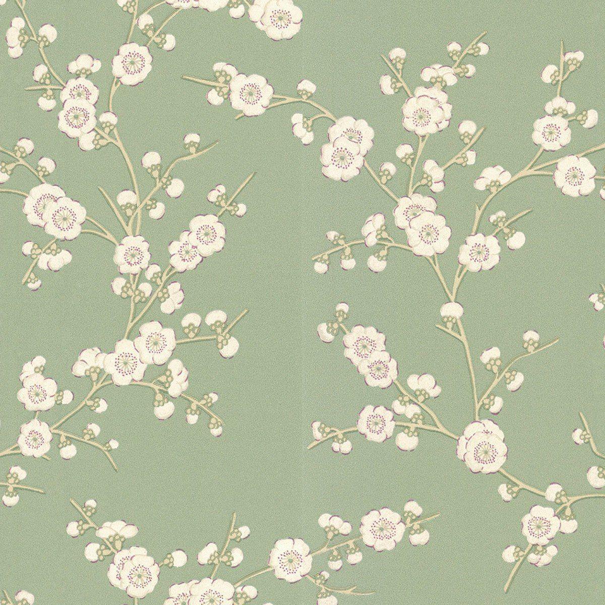 Tapeten Floral, Tapete Grün Und Tapeten
