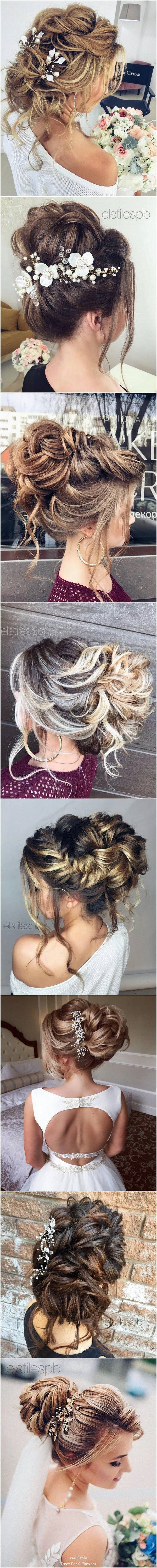 Elstile long wedding hairstyle inspiration hair and beauty