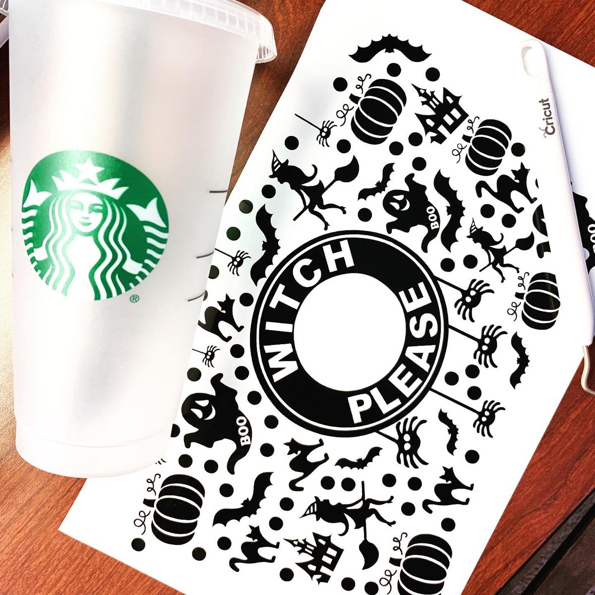 Halloween Design Full Wrap Starbucks Venti Coffee Svg File Etsy In 2020 Starbucks Diy Halloween Cups Starbucks Halloween