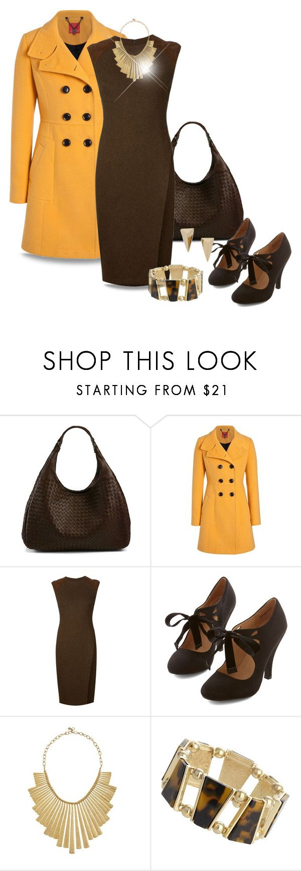 Coat and Dress by stileclassico on Polyvore featuring Ralph Lauren Black Label, Bottega Veneta, Wallis, Lucky Brand, Alexis Bittar, Fall, contest and dressandcoat