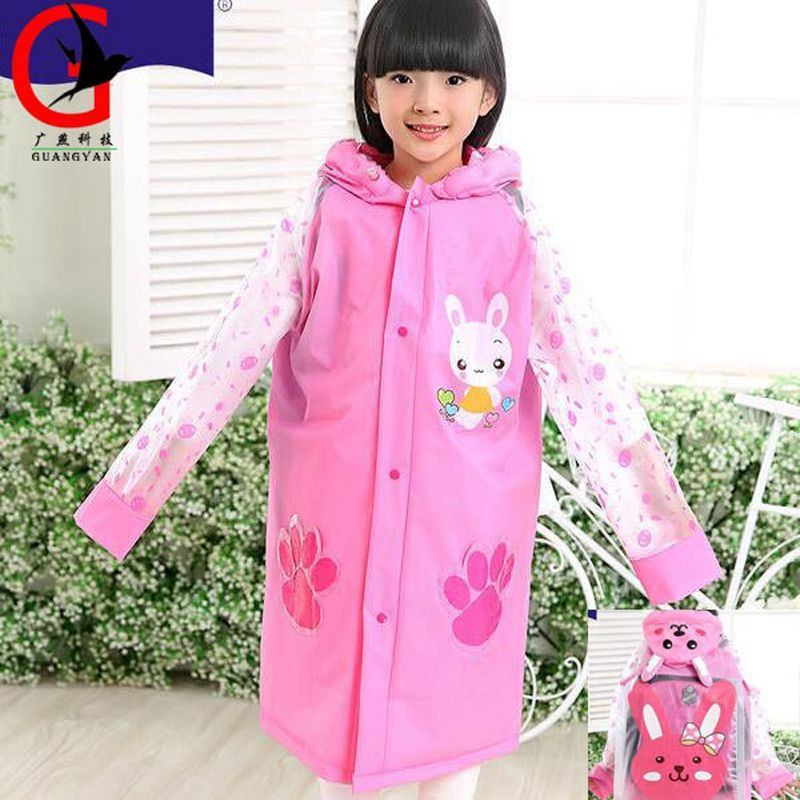 66568a60d030 PVC inflatable cap edge Poncho Kids Rain Coat For children Raincoat ...