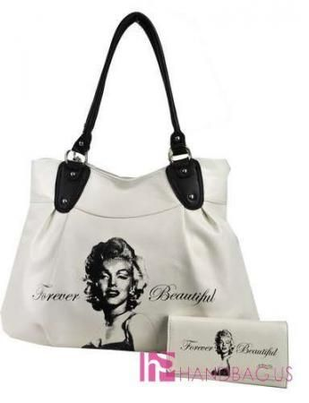 Marilyn Monroe Bags Licensed Signature Shoulder Handbag Purse Bag Wallet