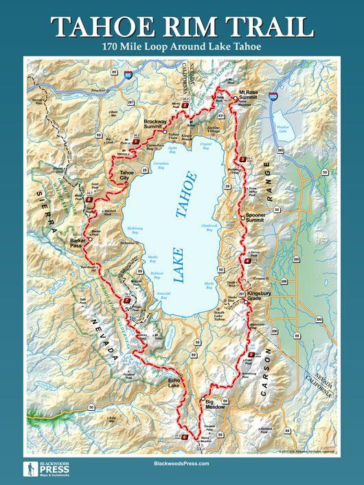 Tahoe Rim Trail | Hiking | Backpacking trails, Trail maps ...