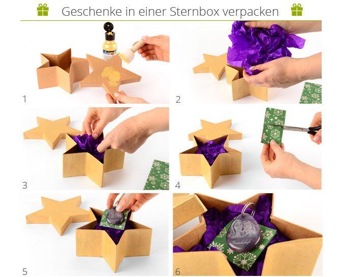 Danato Com Weihnachten.Schritt Für Schritt Anleitung Wie Man Eine Sternbox Dekoriert