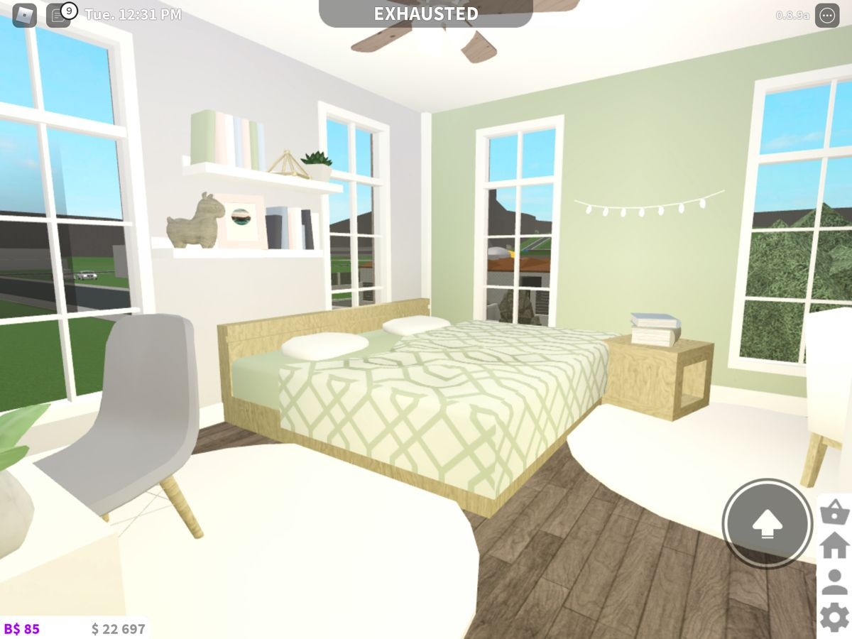 Green Themed Bedroom Bloxburg Aesthetic Bedroom House Layouts Family House Plans Guest bedroom ideas bloxburg