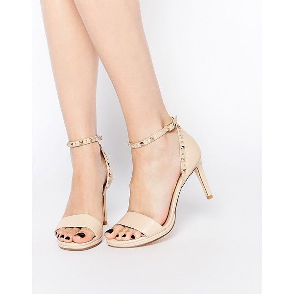 dc89a95d461 DUNE Missie nude leather two part studded heeled sandals