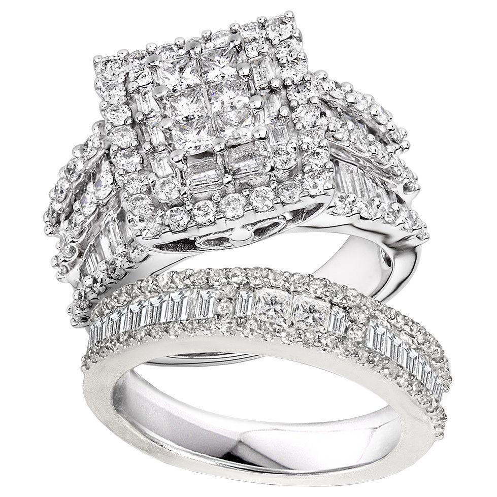 Annello by Kobelli 14k White Gold 2 5/8ct TDW Diamond Halo
