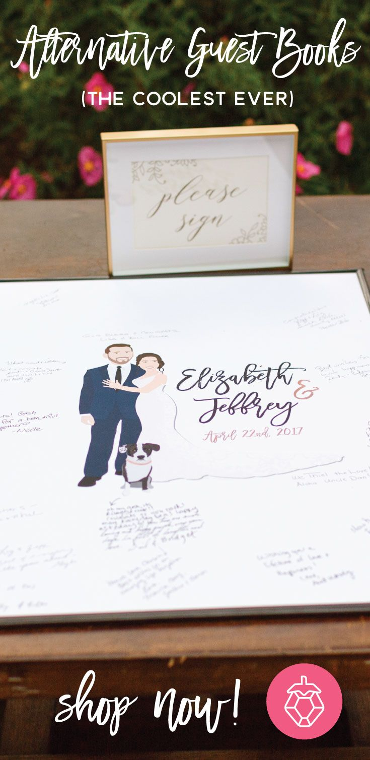 Shop The Most Unique Wedding Guest Book Alternatives That Will Wow