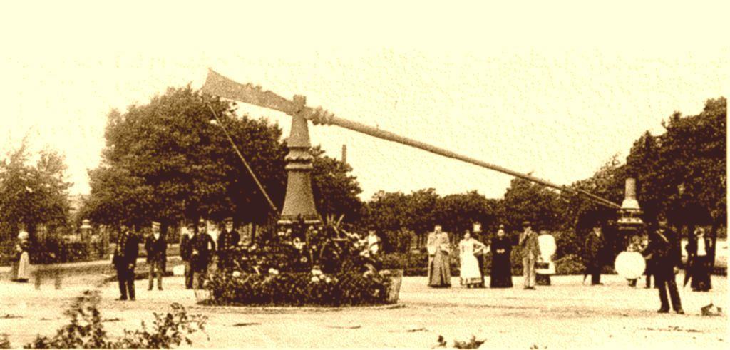 Eerste proefneming electrische verlichting Waalkade 1886 http://www ...