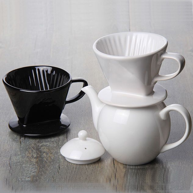 Ceramic Coffee Pour Over Dripper Filters Hand Drip Porcelain Coffee