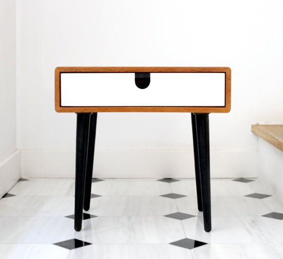 2014 Collection MidCentury Scandinavian Side Table / By Habitables | Bedside  Nightstand | Pinterest | White Nightstand, Scandinavian And Nightstands