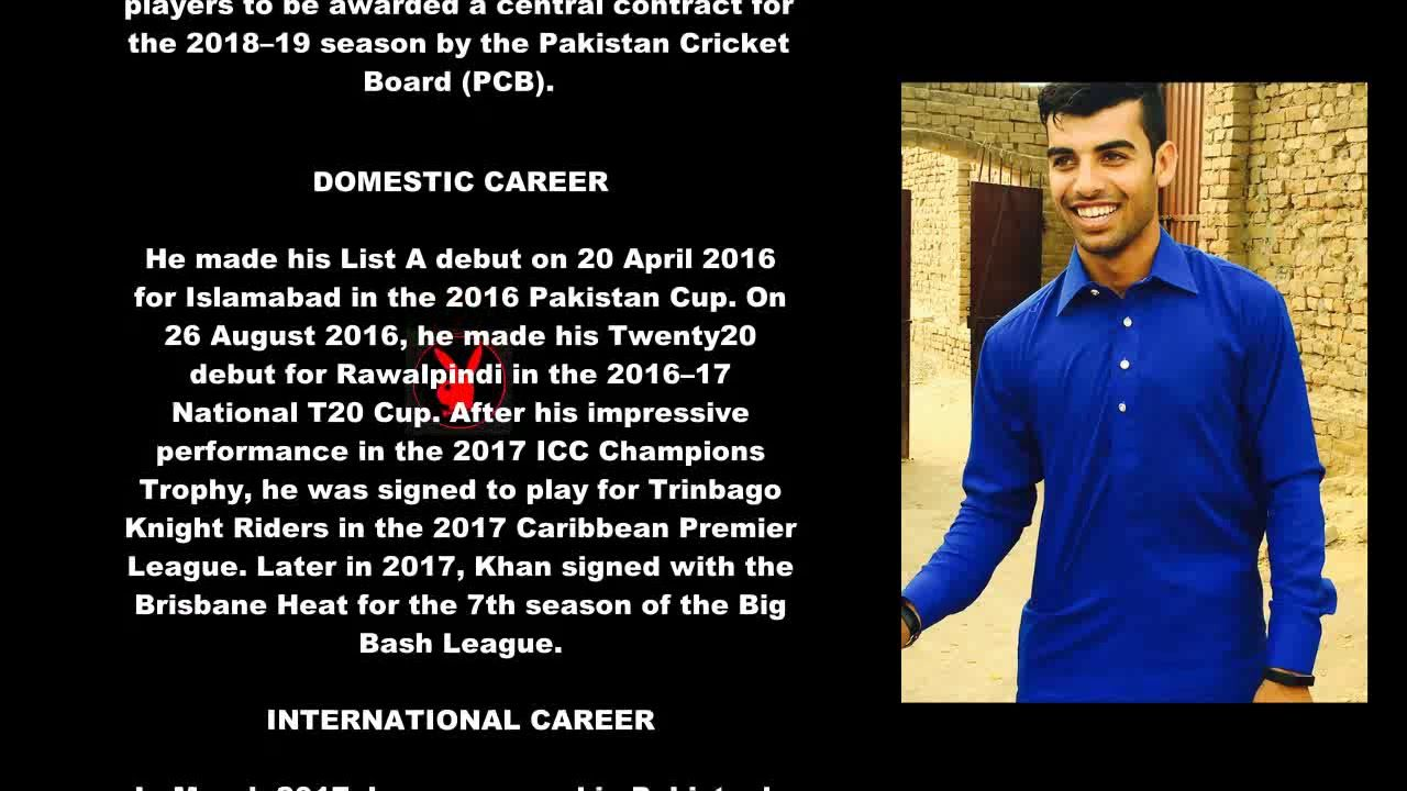 Shadab Khan Pakistani Cricketer Biography With Detail