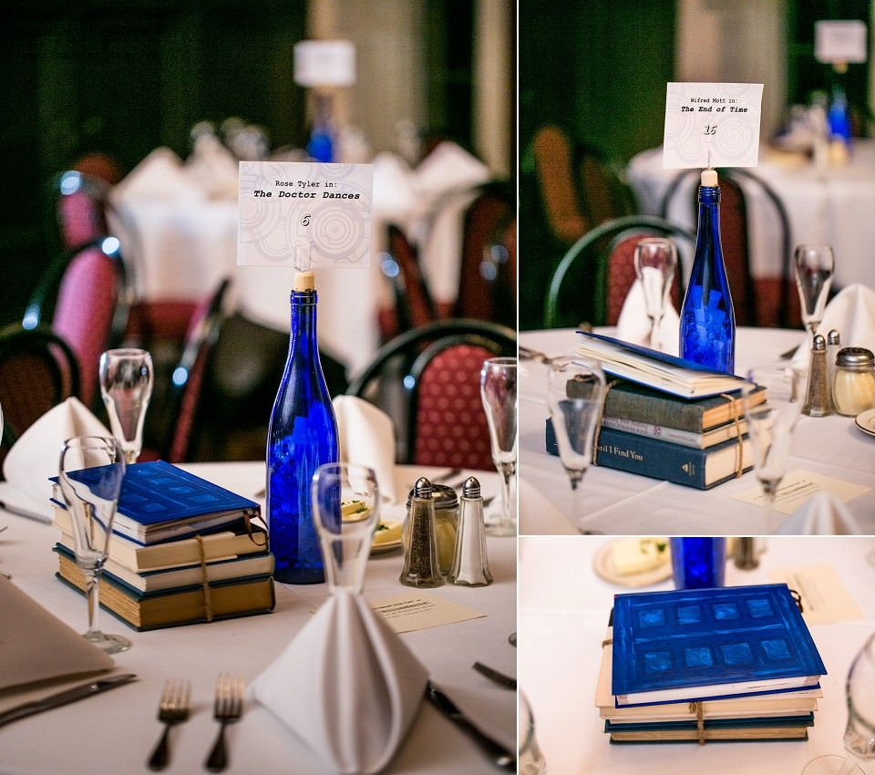 Geek Wedding Ideas: Doctor Who Table Decor-- Favorite Episodes Meets Blue