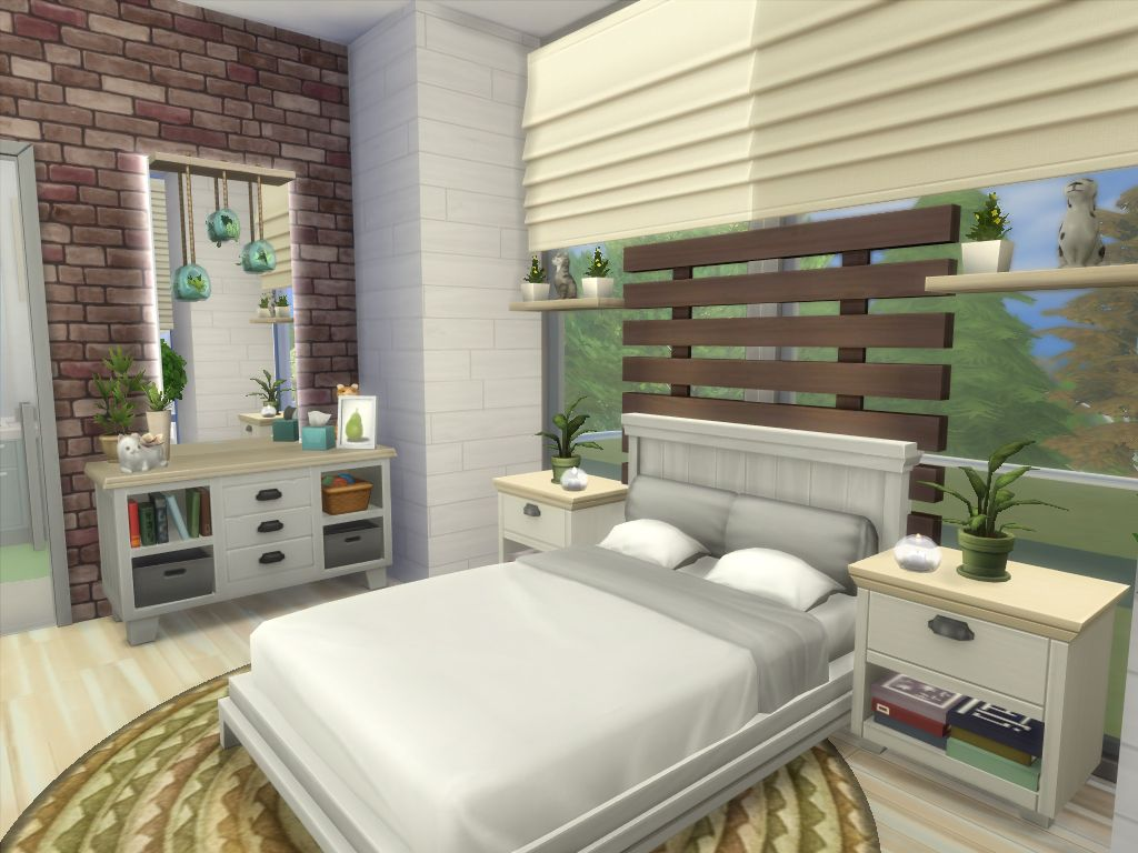 Mod The Sims Sims Tranquil No Cc Sims 4 Bedroom Sims House Sims 4 House Design