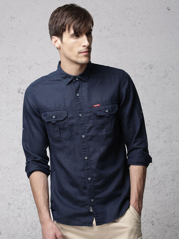 Linen safari shirt - Ecko Unltd India  639629e8314
