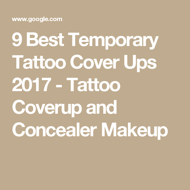 9 Best Temporary Tattoo Cover Ups 2017 - Tattoo Coverup and ...