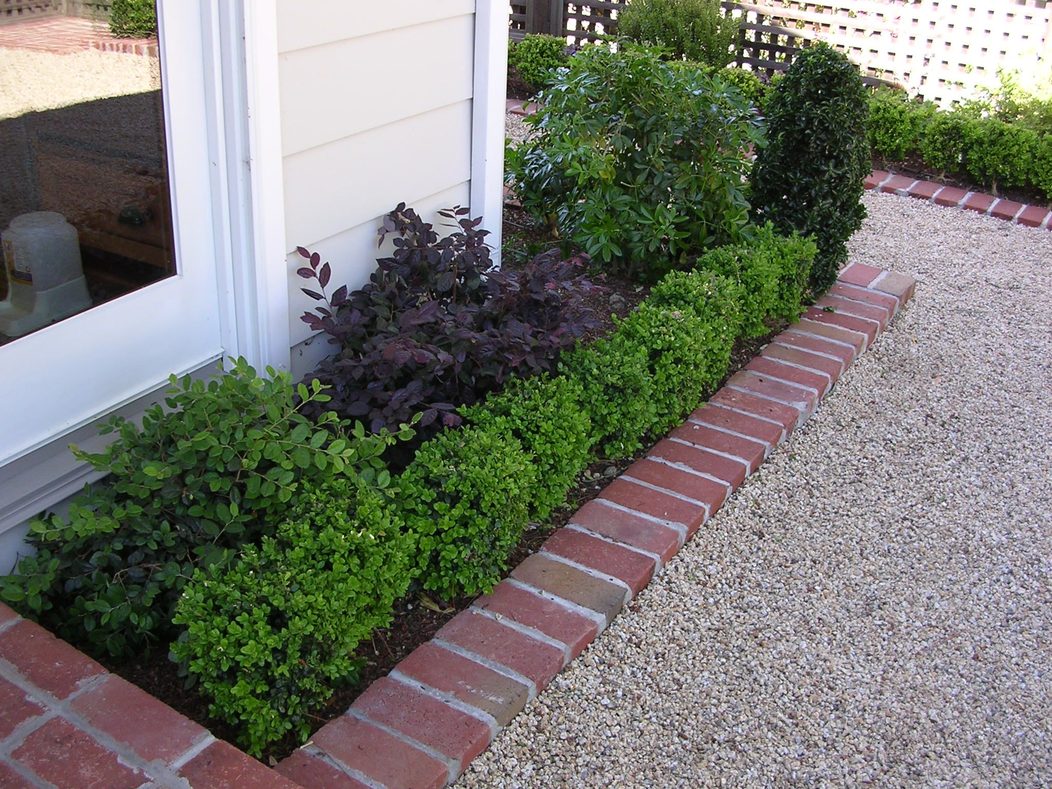 Boxwood brick gravel edge mike 39 s recent projects for Gravel path edging ideas