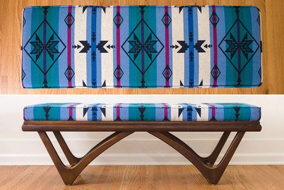 SOLD Mid Century Adrian Pearsall Style Vintage Camp Blanket