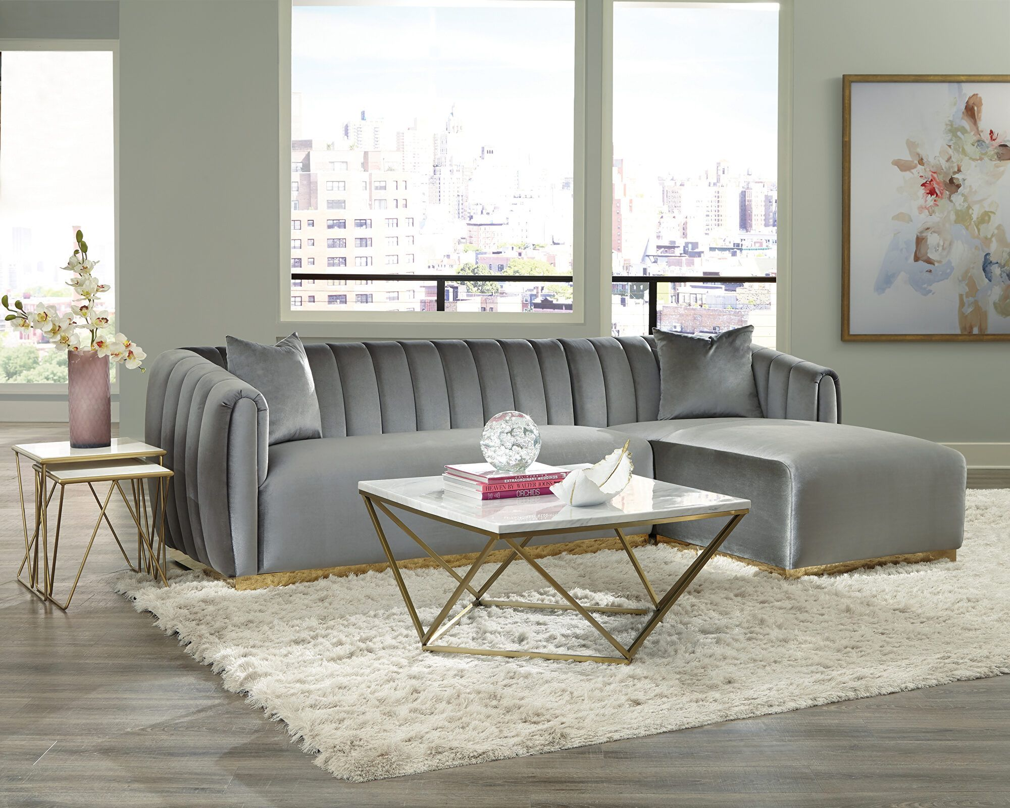 Grisby Sectional Sofa 509490 Coaster Furniture Sectional Sofas In 2021 Sectional Sofa Fabric Sectional Sofas Modern Sectional