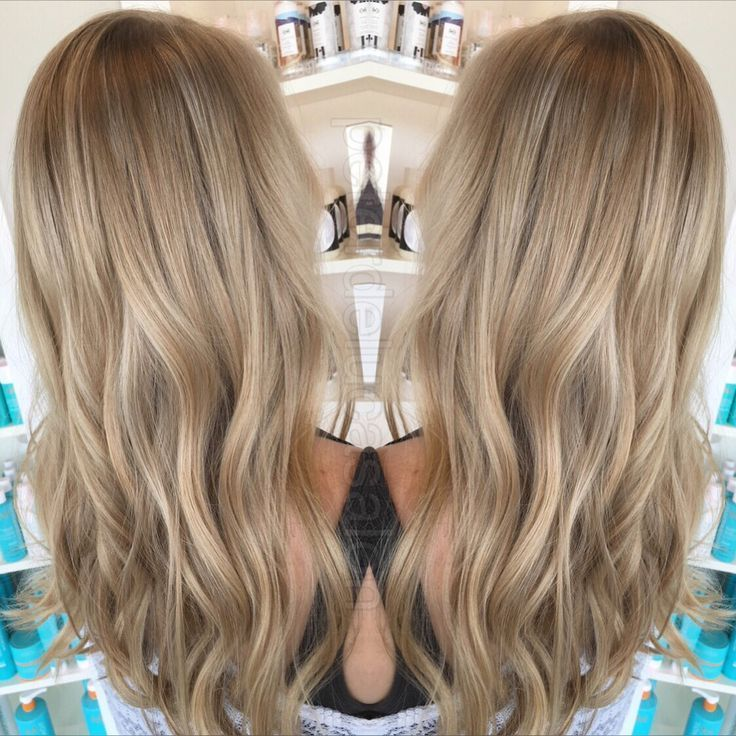 right combination of blonde tones paired with some babylights makes for the perfect natural look. Love the ash blond.