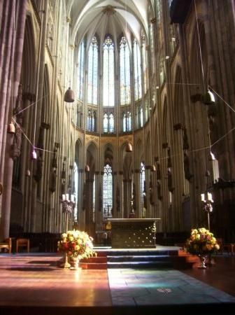 Inside Cologne Cathedral it is almost deafening with aromatic enthrallment.
