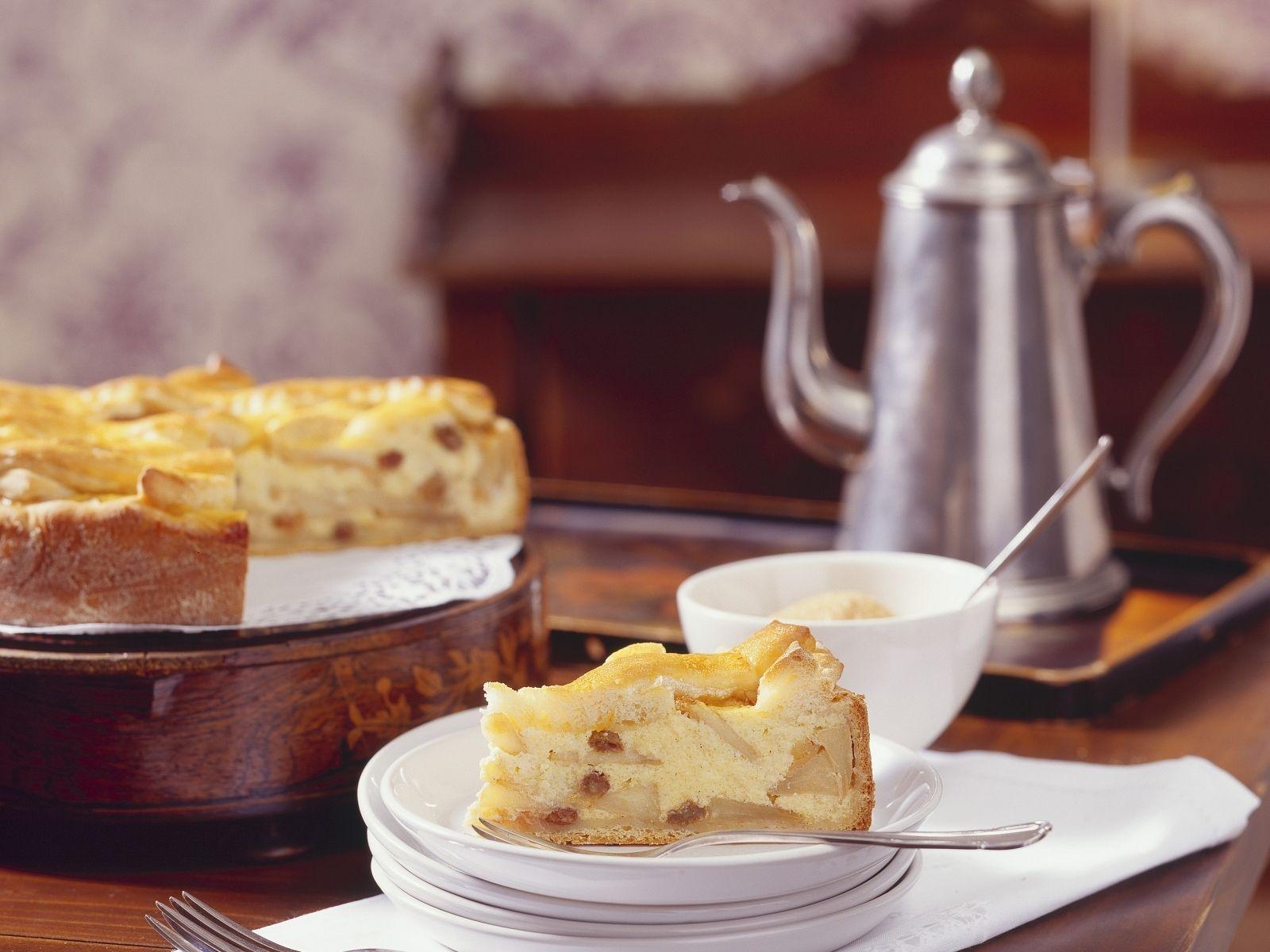 Grieß Apfel Kuchen mit Sultaninen Rezept