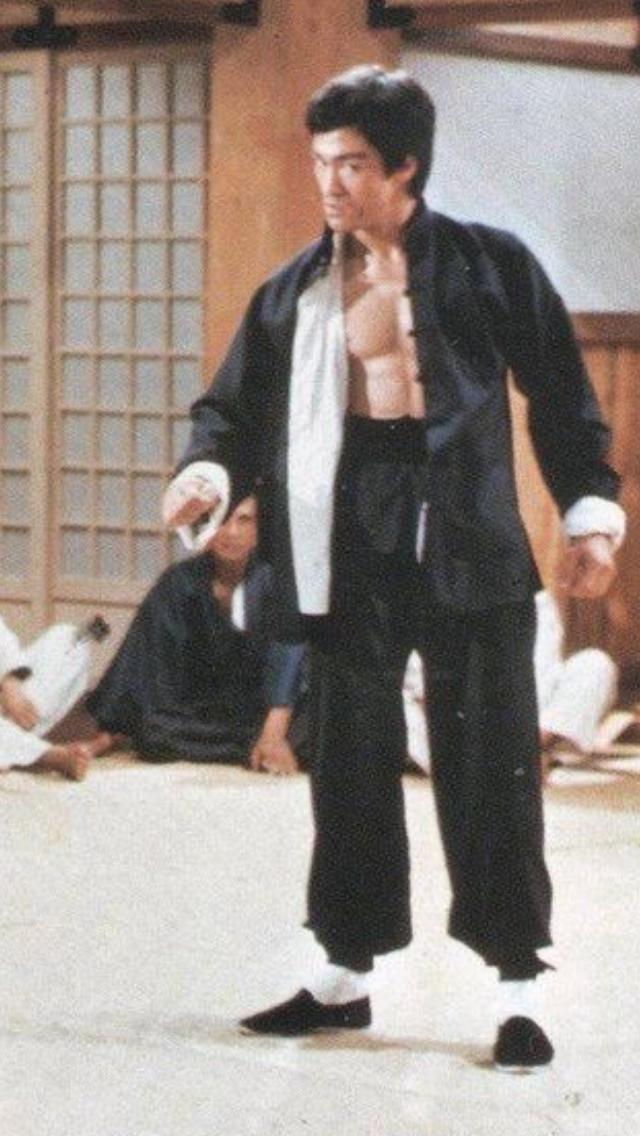 Image result for bruce lee blue suit