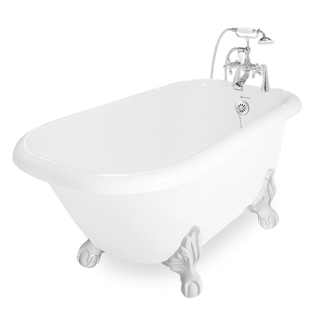 American Bath Factory 60 In Acrastone Acrylic Classic Clawfoot