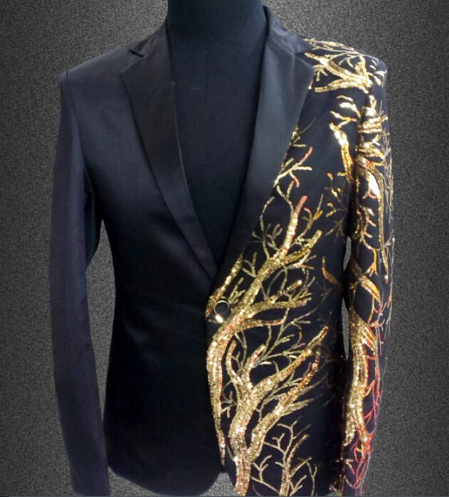 Click to enlarge Aliexpress.com : Buy New Slim Male Suits Blazer ...