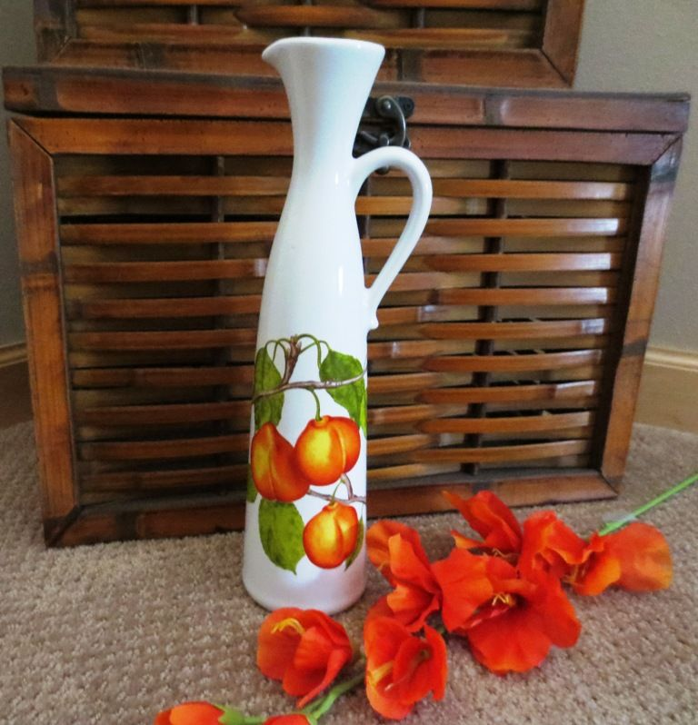 Revol France Porcelain Pitcher or Vase with Peaches https://www.etsy.com/shop/loftydreamsvintage