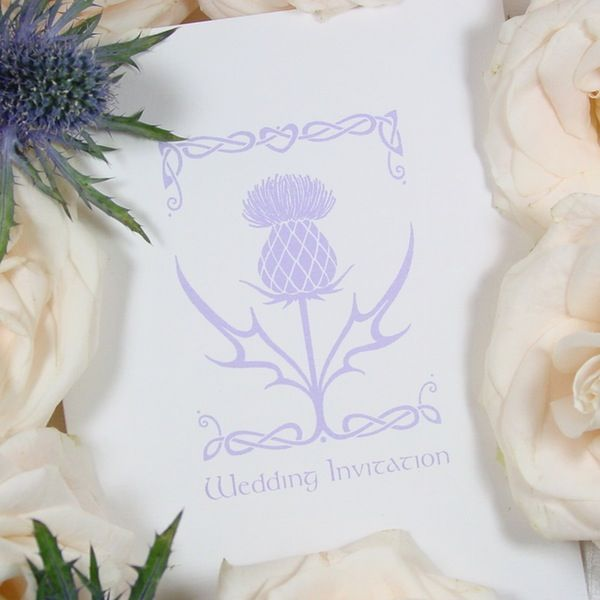 Thistle wedding invitation Paris Collection