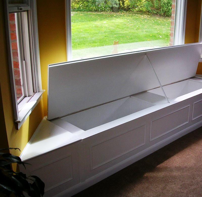 bay window seat wit storage design master bedroom pinterest storage design window and storage. Black Bedroom Furniture Sets. Home Design Ideas