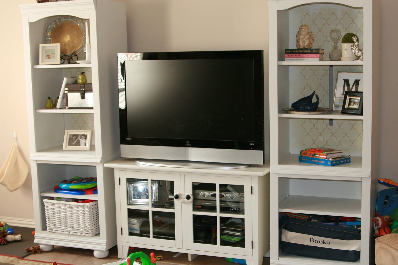 Love The Bookshelves On The Sides Of The Tv Stand Build A Tv