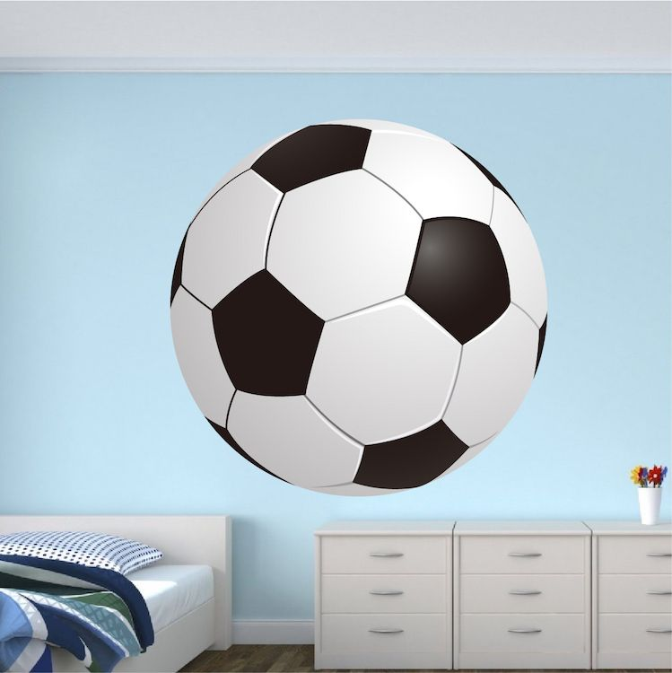 Soccer Bedroom Wall Graphic Large Soccer Ball Wallpaper Boys Room Soccer Sticker Personalized Soccer Monogram Sports Wall Decals Room Decals Kids Room Wall