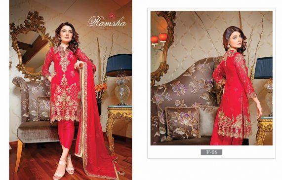 58799a0122 Ramsha Fashion Latest Embroidered Chiffon Collection 2017 | 1000+ ...