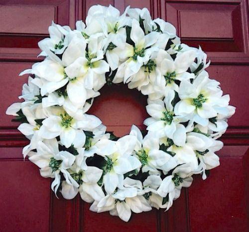 how to make a christmas poinsettia wreath video poinsettia wreath christmas poinsettia and poinsettia