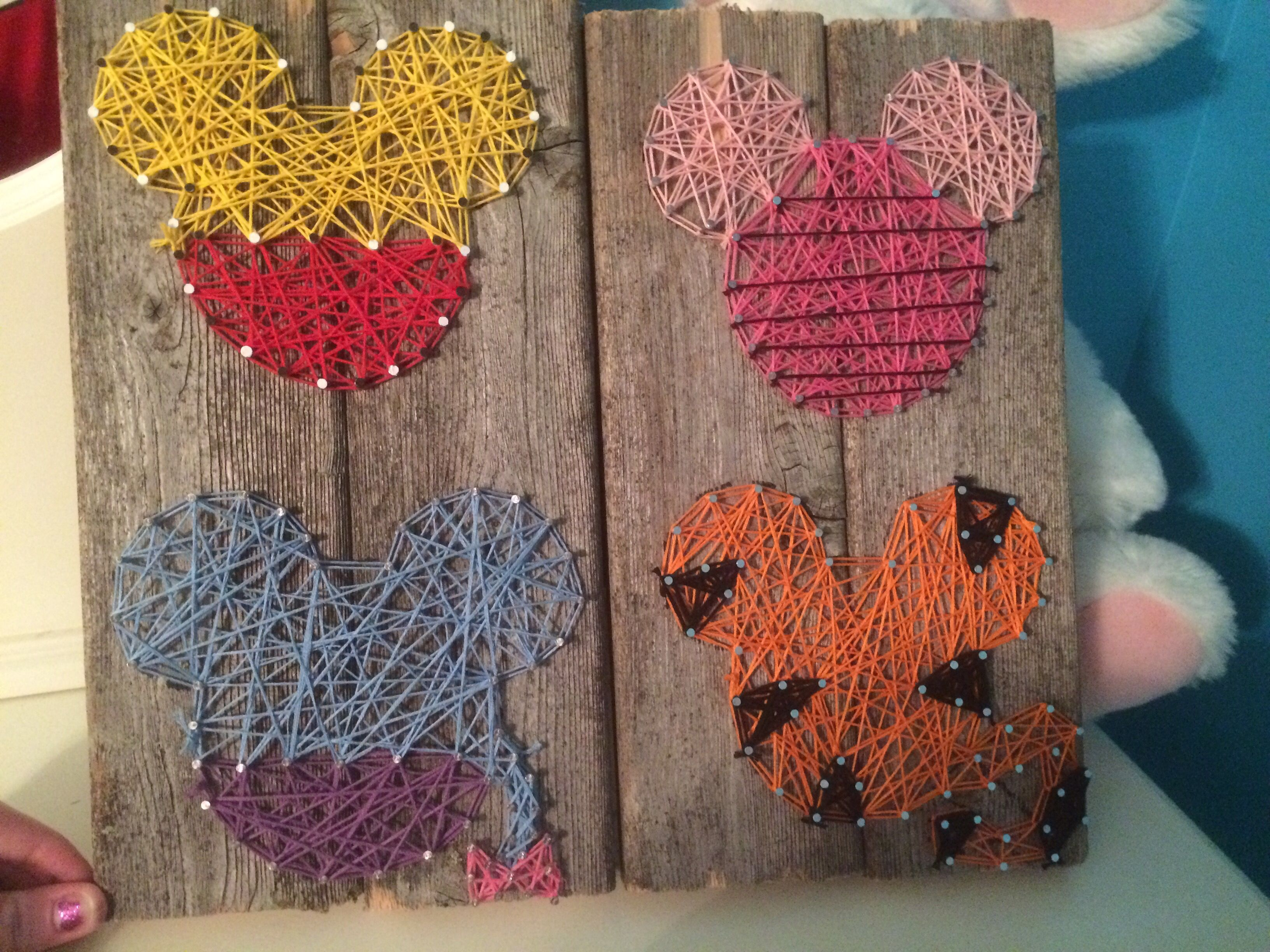 disney characters w mickey template string art