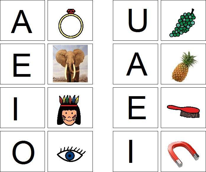 Jogo De Memoria Vogais E Letra Inicial Atividades Alfabetizacao