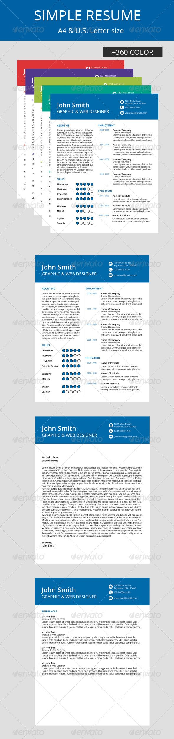 Resume Text Size Simple Resume  Simple Resume Letter Size And A4