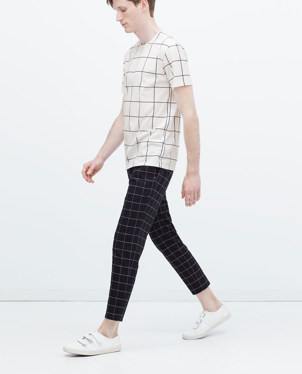 CHECKED TROUSERS from Zara