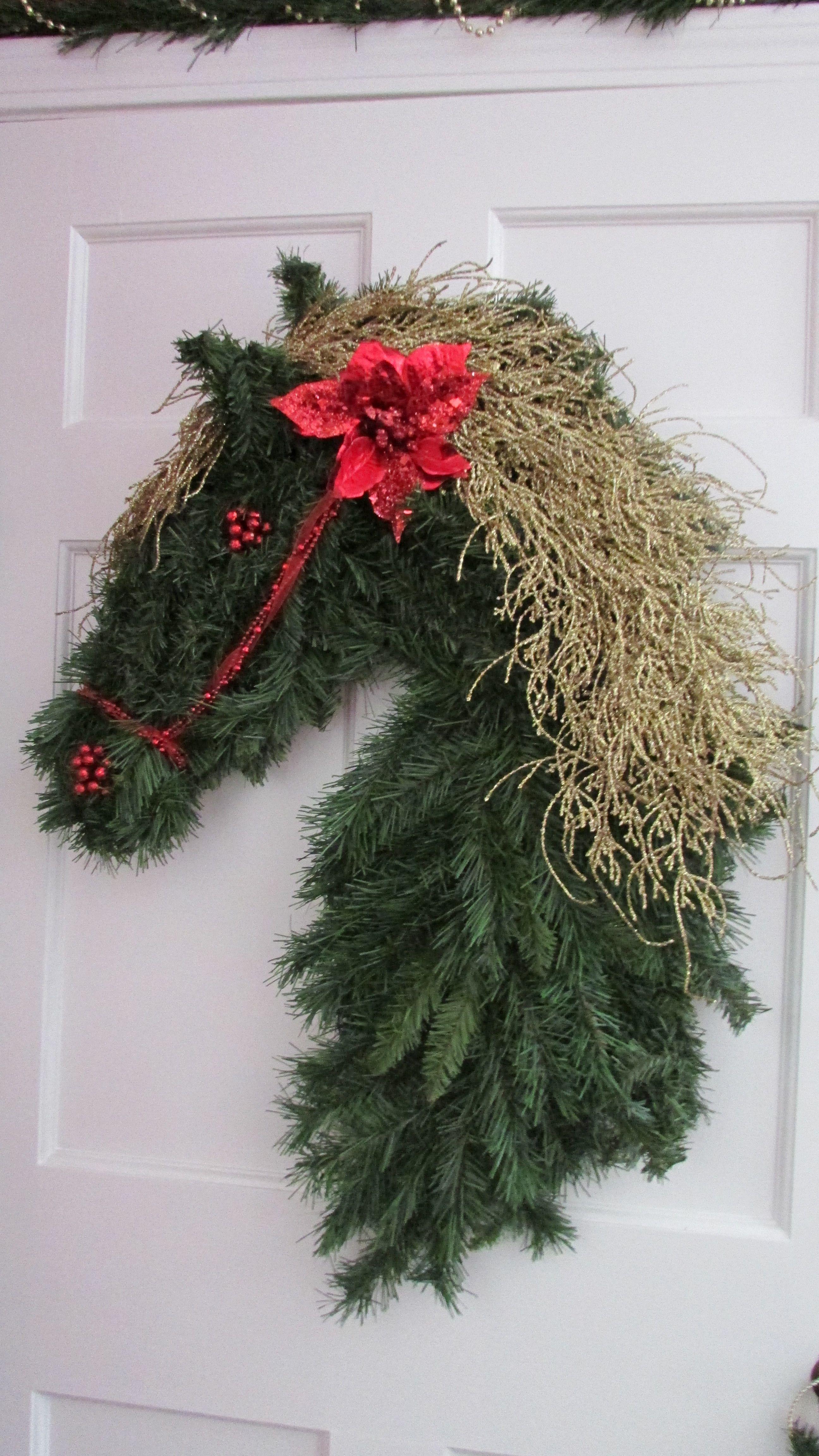 Horse Wreath Christmas Pinterest
