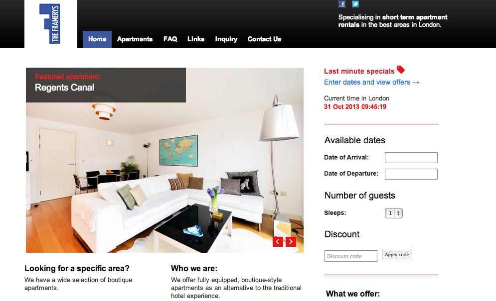 Vacation Rental Website Samples The Framerys Kigo Rental Vacation Rental Website Sample