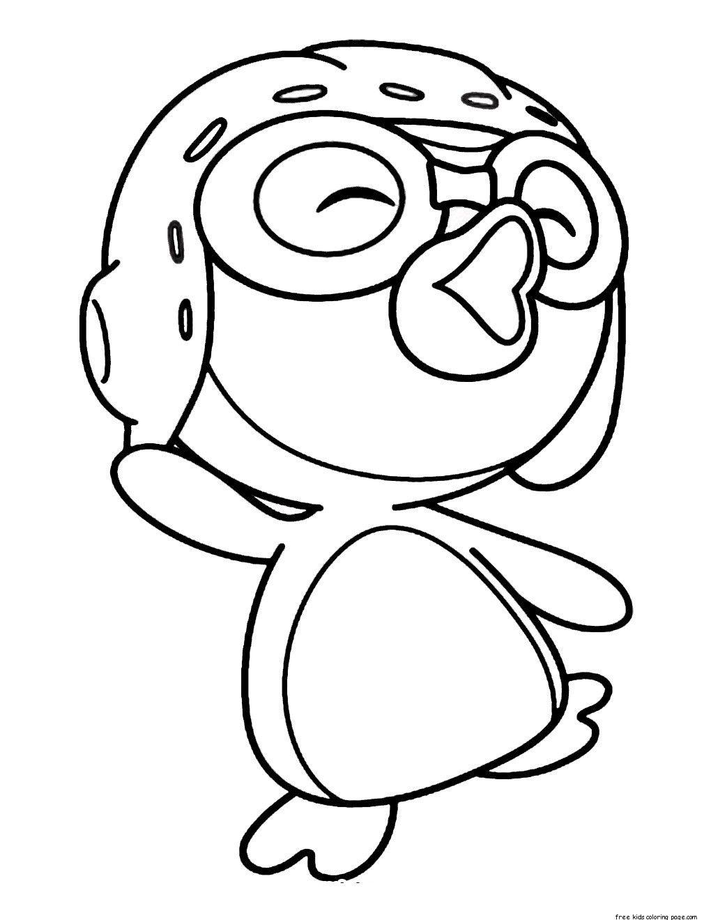 Desenhos De Pororo O Pequeno Pinguim Para Colorir Pintar