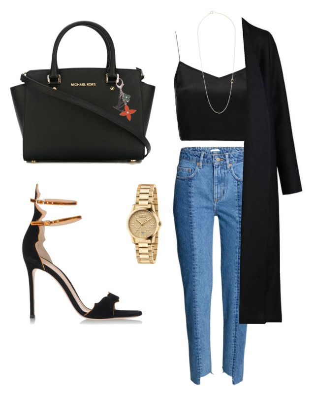 """""""🕶"""" by highsxul on Polyvore featuring moda, Boutique, Gianvito Rossi, MICHAEL Michael Kors, Louis Vuitton, Gucci, Non i Bianca Pratt"""