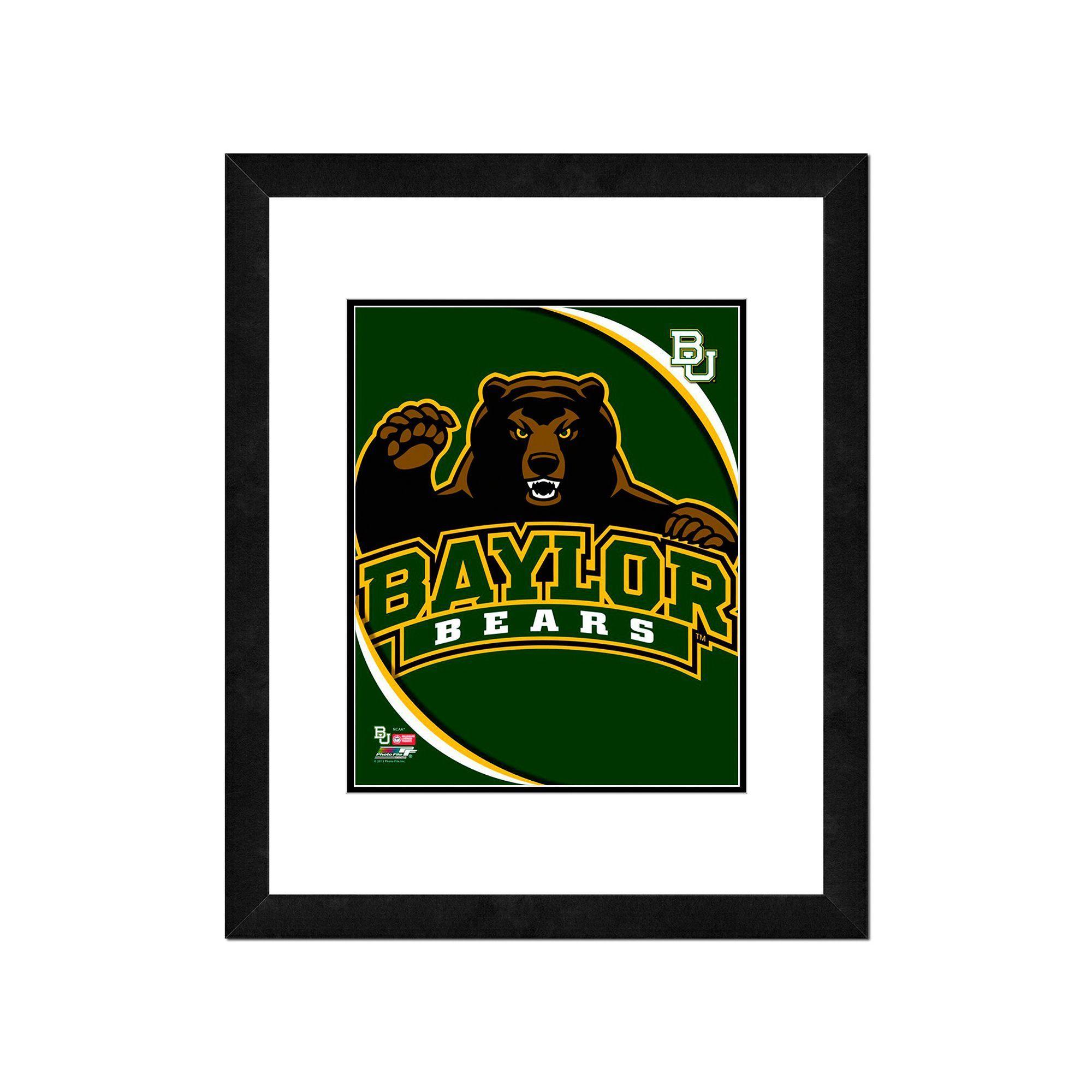 "Baylor Bears Team Logo Framed 11"" x 14"" Multicolor"