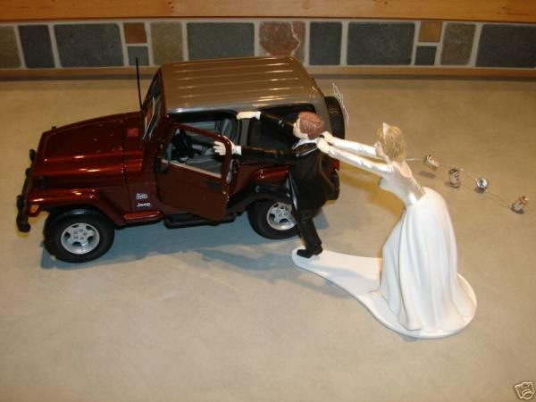 I Am In Love With This Cake Topper Get The Man Running And A Jeep Cast Thats To Scale Just Set Em Up No If Ands Or Buts
